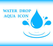 Water drop aqua icon Stock Images