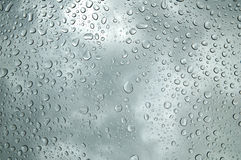 Water Drop background. Background image of water drops on a glass surface Stock Image