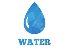 Water drop background Royalty Free Stock Photography