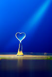 Water drop on blue background Royalty Free Stock Photos