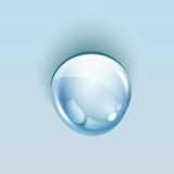 Water drop blue, background. Vector illustration royalty free illustration