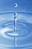 Water drop. Blue water drop - small splash Stock Images