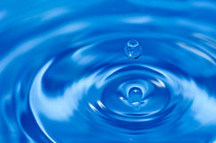Water Drop. Blue water drop and swirls Stock Photos
