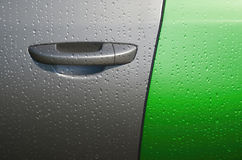 Water drop on car Stock Image