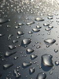 Water drop on car roof Royalty Free Stock Images