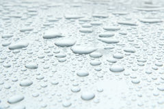 Water drop on car roof Royalty Free Stock Image