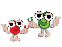 Water Drop Cartoon Mascot Royalty Free Stock Photo