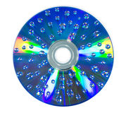 Water drop on CD rom Royalty Free Stock Photo