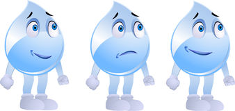 Water drop character  Stock Photography
