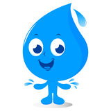 Water drop character Royalty Free Stock Photo