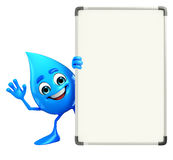 Water Drop Character with display board Stock Images