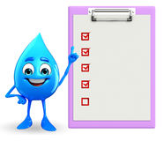 Water Drop Character with notepad Royalty Free Stock Photography