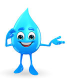 Water Drop Character with Salute pose Royalty Free Stock Photo