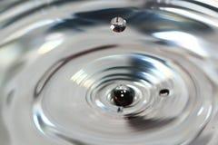 Water drop close up. Stop motion water drop close up stock image