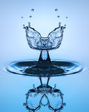 Water drop close up. Water sculpture. Stock Photography