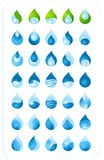 Water drop collection Stock Photography