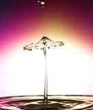 Water drop collision Royalty Free Stock Photos