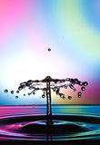 Water drop collision Stock Photo