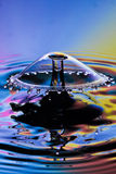 Water drop collision Royalty Free Stock Images