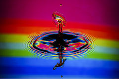 Water Drop Collision Closeup Royalty Free Stock Photography