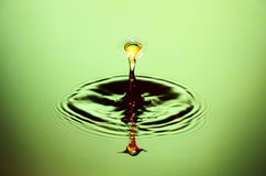 Water Drop Collision Closeup Stock Photography
