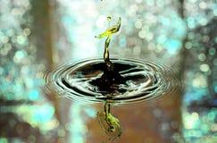 Water Drop Collision Closeup Royalty Free Stock Photos
