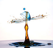 Water drop collision Royalty Free Stock Photography