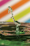 Water-drop collission Stock Images