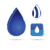 Water drop color vector Stock Photography
