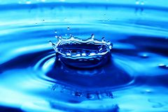 Water drop. S with color background Stock Photos