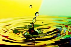 Water drop. S with color background Royalty Free Stock Photos