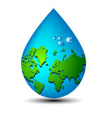 Water drop earth ecology concept Stock Photos