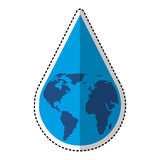 water drop with earth planet Royalty Free Stock Photo