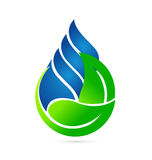 Water drop ecology concept logo stock illustration