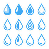 Water Drop Emblem. Logo Template. Icon Set. Vector Stock Image
