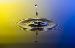 Water Drop. Falling down, Waterdrop Royalty Free Stock Photography