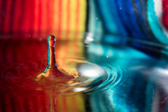 Water drop falling into water Royalty Free Stock Photography