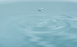 Water drop falling into water Royalty Free Stock Images