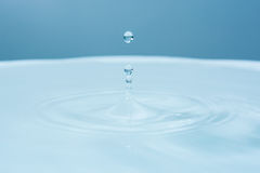Water drop falling into water Royalty Free Stock Photo