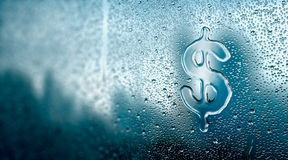 Water Drop Forming a Dollar Sign. 3D Rendering Royalty Free Stock Photography