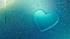 Water Drop Forming a Heart Royalty Free Stock Photo