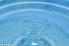 Water drop funnel Stock Photos