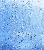 Water drop on glass. Close up of natural water drop on glass Royalty Free Stock Photography