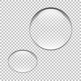 Water drop. Glass sphere. Bubble. Vector illustration. Water drop. Glass sphere. Bubble.  Vector illustration Royalty Free Stock Photos