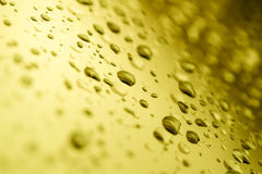 Water Drop Gold Color. Royalty Free Stock Image