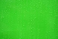 Water drop on green background. Royalty Free Stock Images