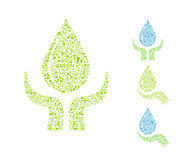 Water drop with hands Royalty Free Stock Images