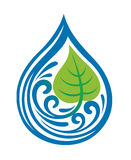Water drop icon Stock Image