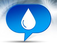 Water drop icon blue bubble background stock illustration