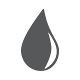 Water drop icon eps10. Vector eps jpg picture flat app Stock Images
